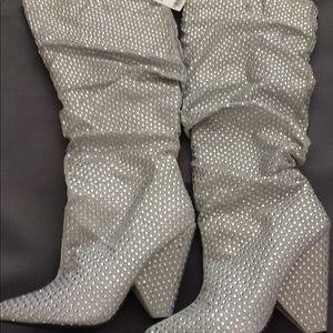 Knee High Rhinestone Boots